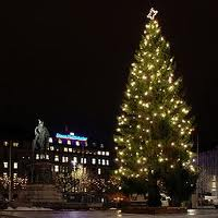 Julgran på Tullinge Torg