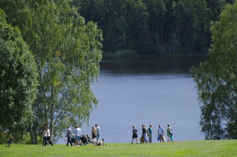 Sjön Getaren vid Lida