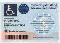 Parkeringstillstånd för rörelsehindrad